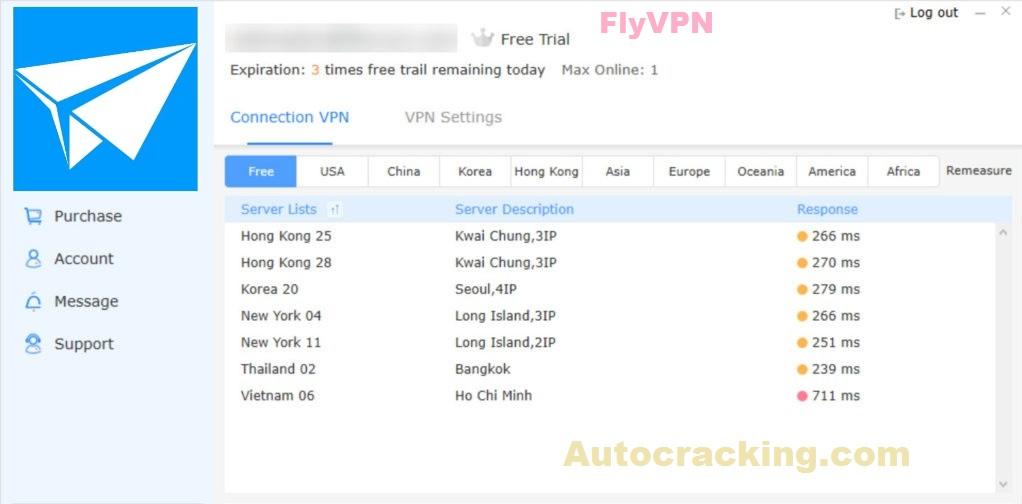FlyVPN Key