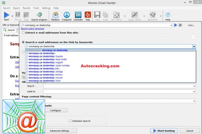 Atomic Email Hunter Key